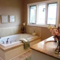 ванная в бежевых тонах фото 40