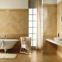 ванная в бежевых тонах фото 6