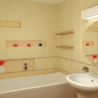 ванная в бежевых тонах фото 9
