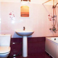 бордовая ванная фото 10