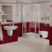 бордовая ванная фото 18