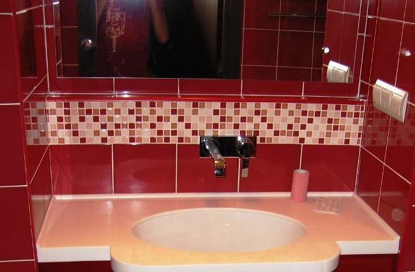 бордовая ванная фото 19