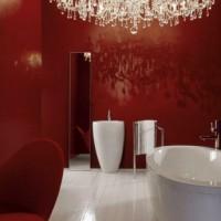 бордовая ванная фото 2