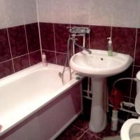 бордовая ванная фото 22