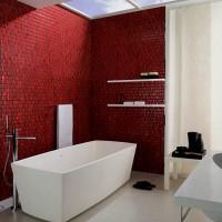 бордовая ванная фото 23