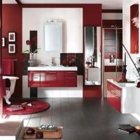бордовая ванная фото 24