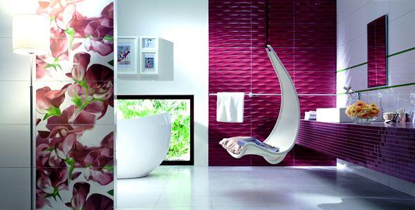 бордовая ванная фото 28