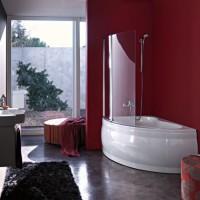 бордовая ванная фото 32