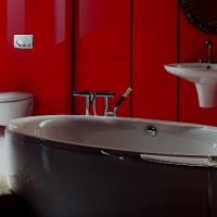 бордовая ванная фото 33