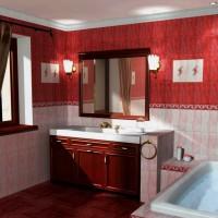 бордовая ванная фото 4
