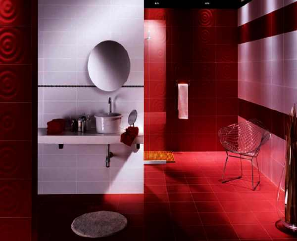 бордовая ванная фото 47
