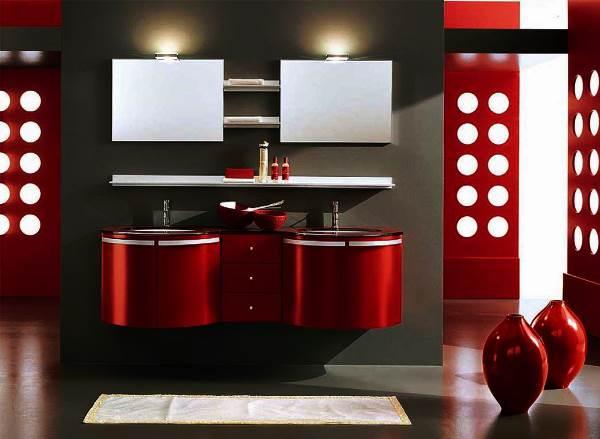 бордовая ванная фото 48