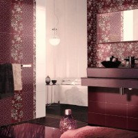 бордовая ванная фото 5