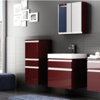 бордовая ванная фото 6