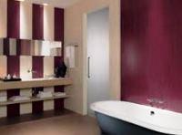 бордовая ванная комната