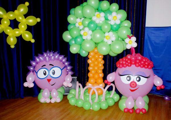 украшение шарами на день рождения фото