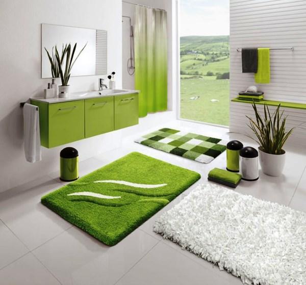 ванная комната в зеленом цвете дизайн фото