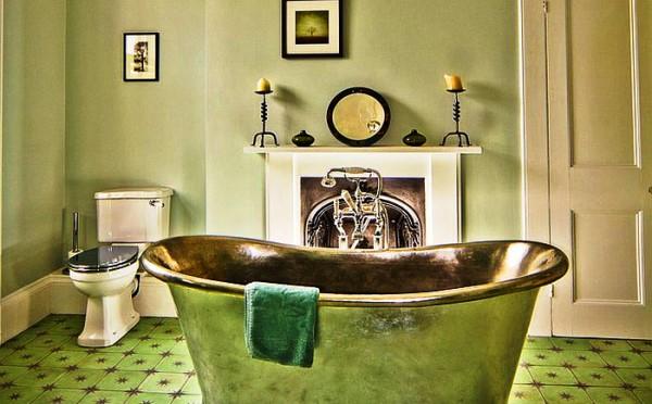 ванная комната в зеленом цвете фото