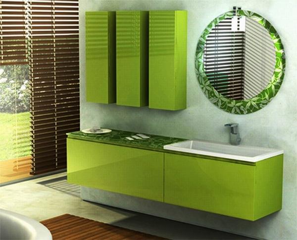 ванная комната в зеленых тонах фото