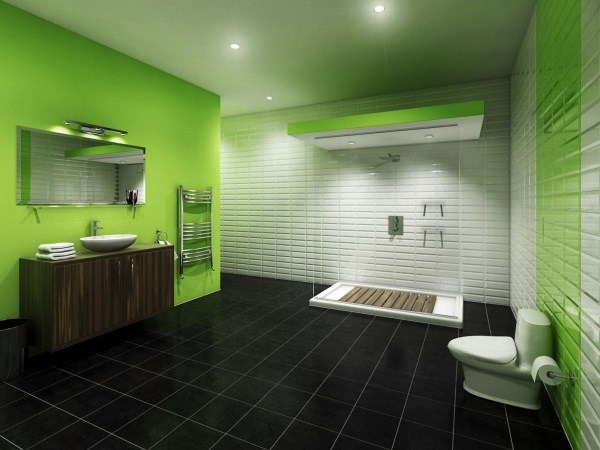 ванная комната зеленого цвета фото