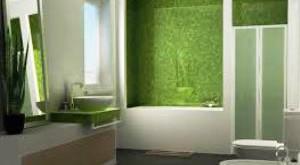 зеленая ванная комната дизайн фото