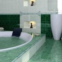 зеленая ванная комната фото 11