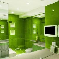 зеленая ванная комната фото 12