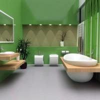 зеленая ванная комната фото 13