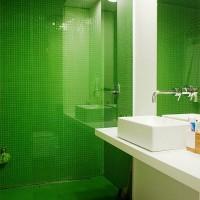 зеленая ванная комната фото 16