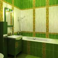зеленая ванная комната фото 20