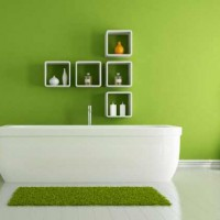 зеленая ванная комната фото 21