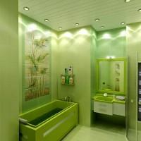 зеленая ванная комната фото 22
