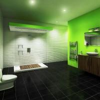 зеленая ванная комната фото 24