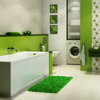 зеленая ванная комната фото 25