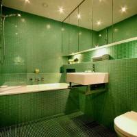 зеленая ванная комната фото 29