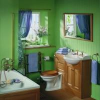зеленая ванная комната фото 3