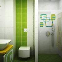 зеленая ванная комната фото 32