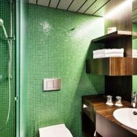 зеленая ванная комната фото 37