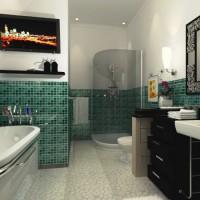 зеленая ванная комната фото 38