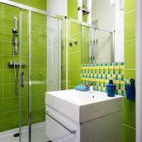 зеленая ванная комната фото 42