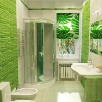зеленая ванная комната фото 43