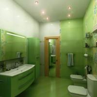 зеленая ванная комната фото 44