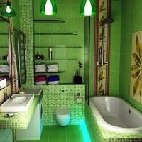 зеленая ванная комната фото 49