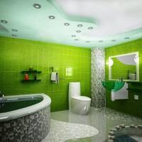 зеленая ванная комната фото 5