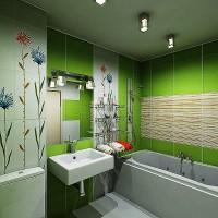 зеленая ванная комната фото 50
