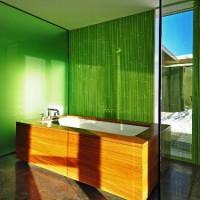 зеленая ванная комната фото 7