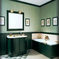 зеленая ванная комната фото 8