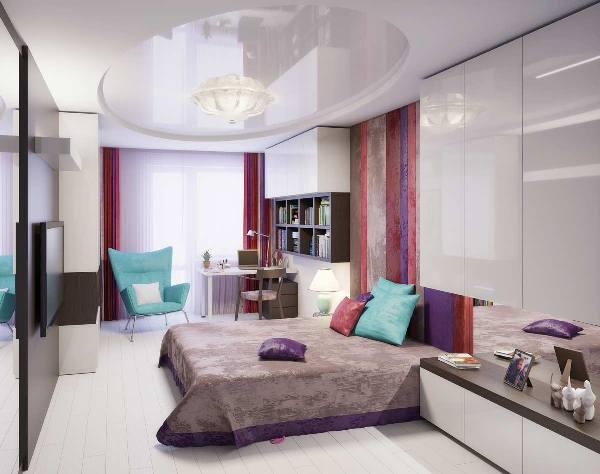 дизайн комнаты для девочки подростка в современном стиле фото