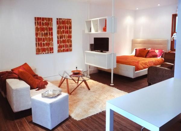зонирование комнаты на спальню и гостиную фото 13