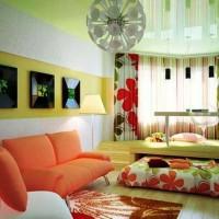 зонирование комнаты на спальню и гостиную фото 16